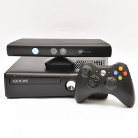 Xbox 360 Com Kinect + Carregador Com Bateria + 5 Jogos