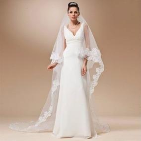 Véu De Noiva Casamento Branco Longo Pronta Entrega