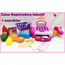 Caixa Registradora Infantil Com Acessórios