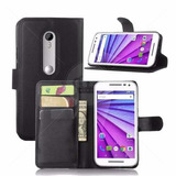 Case Flip Antiimpacto Motorola Novo Moto G G3 + Top Vidro 9h