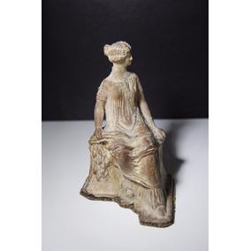 Estatueta Grega De Tânagra, Donzela De Terracota (320-250ac)