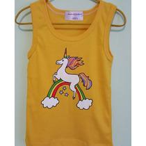Nuevo! Camisetas De Unicornio Para Niñas Pintadas A Mano