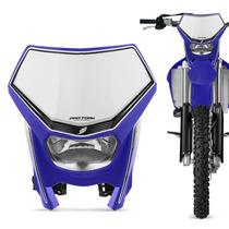 Carenagem Farol Moto Off Road Universal Pro Tork Azul