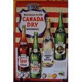 Carteles Metálicos Canada Dry, Afiches Antiguos Publicidad