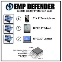 Jaula De Faraday Emp Esd Bolsas Kit Completo 10pc Survivalis