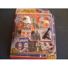 Kit Com 1 Boneco Tipo Lego + Acessorios Coleção Star Wars