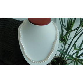 Gargantilla De Perlas Naturales Blancas Cultivadas