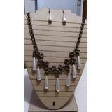 Collar Aros Tejido Medieval Metal Bronce Artesanal Il Verbo