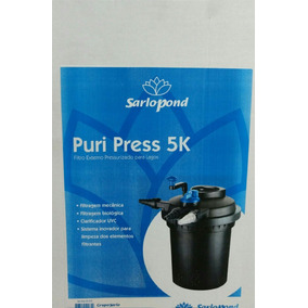 Filtro Pres-sarlo Pond Puri Press 5k-uv 13w-com Nota Fiscal