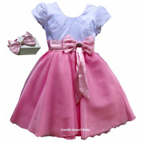 Vestido Festa Luxo Princesa Realeza Barbie 2-14 Anos