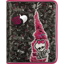 Fichario Com Ziper E Alca Monster High Top Tilibra