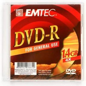 50 Mini Dvd-r Gravável Emtec 1.4gb 30 Min. 4x Frete Grátis