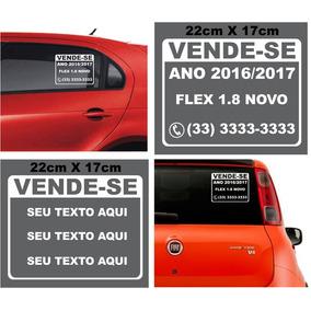 Adesivo Vende-se Vendo 03 Peças Veículo Carro Placa Adesiva