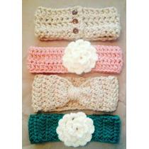 Vincha Tejidos Al Crochet Para Bebes Y Niñas X Mayor Y Menor