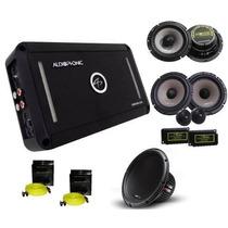 Kit Pro Audiophonic Club 800.4 + C1-10d2 + Ks 6.2+cb650+rca