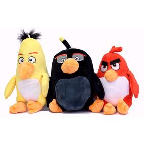 Angry Birds Pelúcia Kit/3 Pelúcias Músicais + Brinde