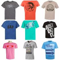 Kit C/ 10 Camisetas Masculinas Várias Marcas Varejo Atacado