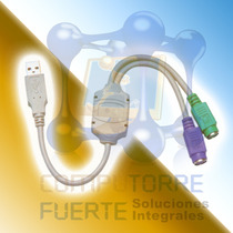 Cable Adaptador Ps2 Usb Teclado Y Mouse Laptop Pc Comtf