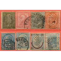 Itália - Acumulação Com 8 Selos - 1863 A 1867