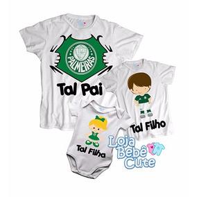 Kit Tal Pai Tal Filho Palmeiras Qualquer Time 2 Camisetas
