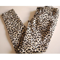 Jeans Americanino Leopardo Chupin Talle 26/42 Vku