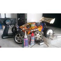 Rc Himoto Combustão + Caixa De Partida + 1,5l De Nitro Byron