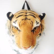 Mochila De Cabeza De Tigre De Bengala Moda Japonesa Bolsa