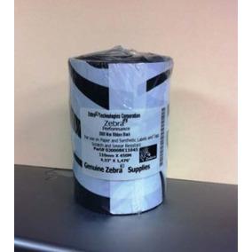 Ribbon Zebra 110x450 Cera Para Impresora De Codigo De Barras