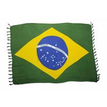 Canga Praia Bandeira Brasil - Menor Preço!