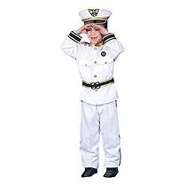 Disfraz Para Niño Deluxe Almirante Conjunto De Vestuario -