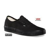 Zapatillas Vans Authentic Negras Suela Negra