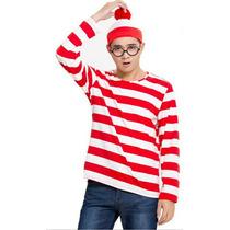 Camiseta Gorro Óculos Aldo Modelo Onde Esta Wally Fantasia