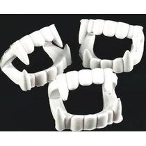 12 Colmillos Vampiro Blanco, Dientes De Plástico, Vestuario