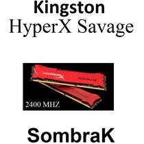 Kingston Savage Red 2400 / 1600 Mhz Xmp 8gb Ddr3 Nuevas