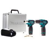Kit 2pc Parafusadeira / Furadeira Impacto+maleta+bits Lct204