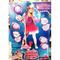 Micrófono Barbie Con Base Luces Y Sonidos Jugueterias Random
