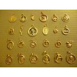 Lote 24 Dijes Dorados Virgen Lujan Papa Francisco Y+ Oferta!