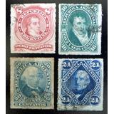 Argentina, Serie Gj 49-52 Percés 1876 Usados L8138