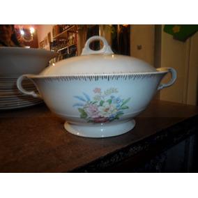 Antigua Guisera Sopera De Porcelana Selbring Pottery Usa.