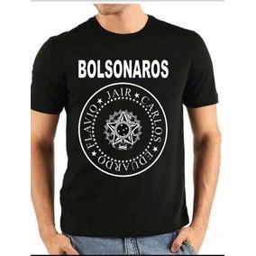 Camiseta Bolsonaros - Jair, Carlos, Eduardo