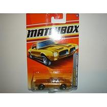 Coleccionable 2011 Matchbox Pontiac Firebird Formula Gold #