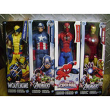 Figuras Marvel Titan Heroes 30cm Wolverine Thor Cap Iron