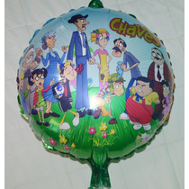 Balão Metalizado Turma Do Chaves 45x45cm - Kit C/ 10 Balões
