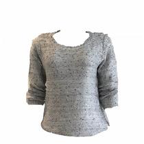 Blusa Malha Tricot Com Brilho Outono/inverno
