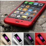 Case Estuche 360 Iphone 5 6 6plus 7 7plus Con Mica De Vidrio