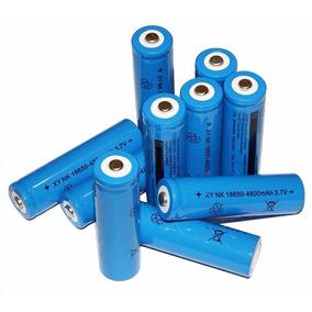 Kit 5x Bateria Pilha 3.7v Lítio 18650 P/ Lanterna Led Tatica