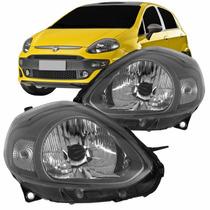 Farol Fiat Punto 2012 2013 2014 2015 2016 Sport Cinza