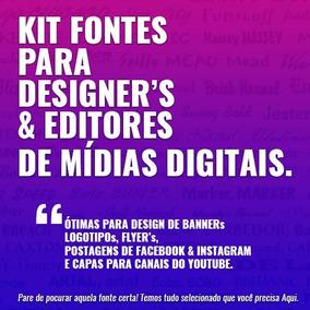 Pacote De Fontes P/ Designers, E Editores De Midias Digitais