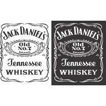 Adesivo Jack Daniels Frigobar Geladeira Tamanho Até 80cm!!!