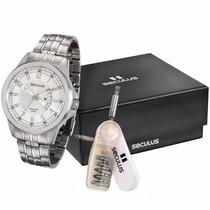 Relógio Seculus 28676gosvna1 Original A Prova D